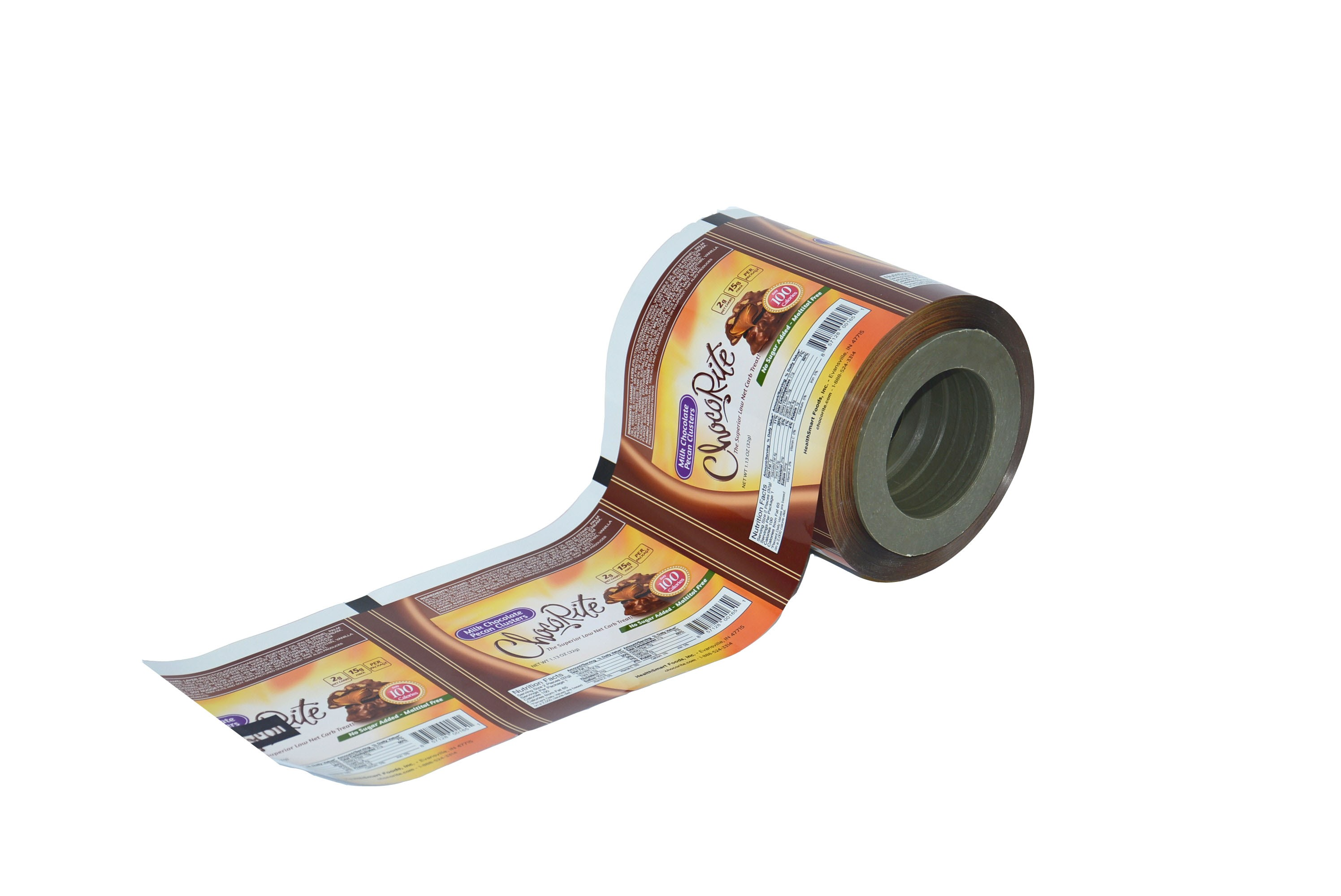 plastic metallized roll film for chocolate bar