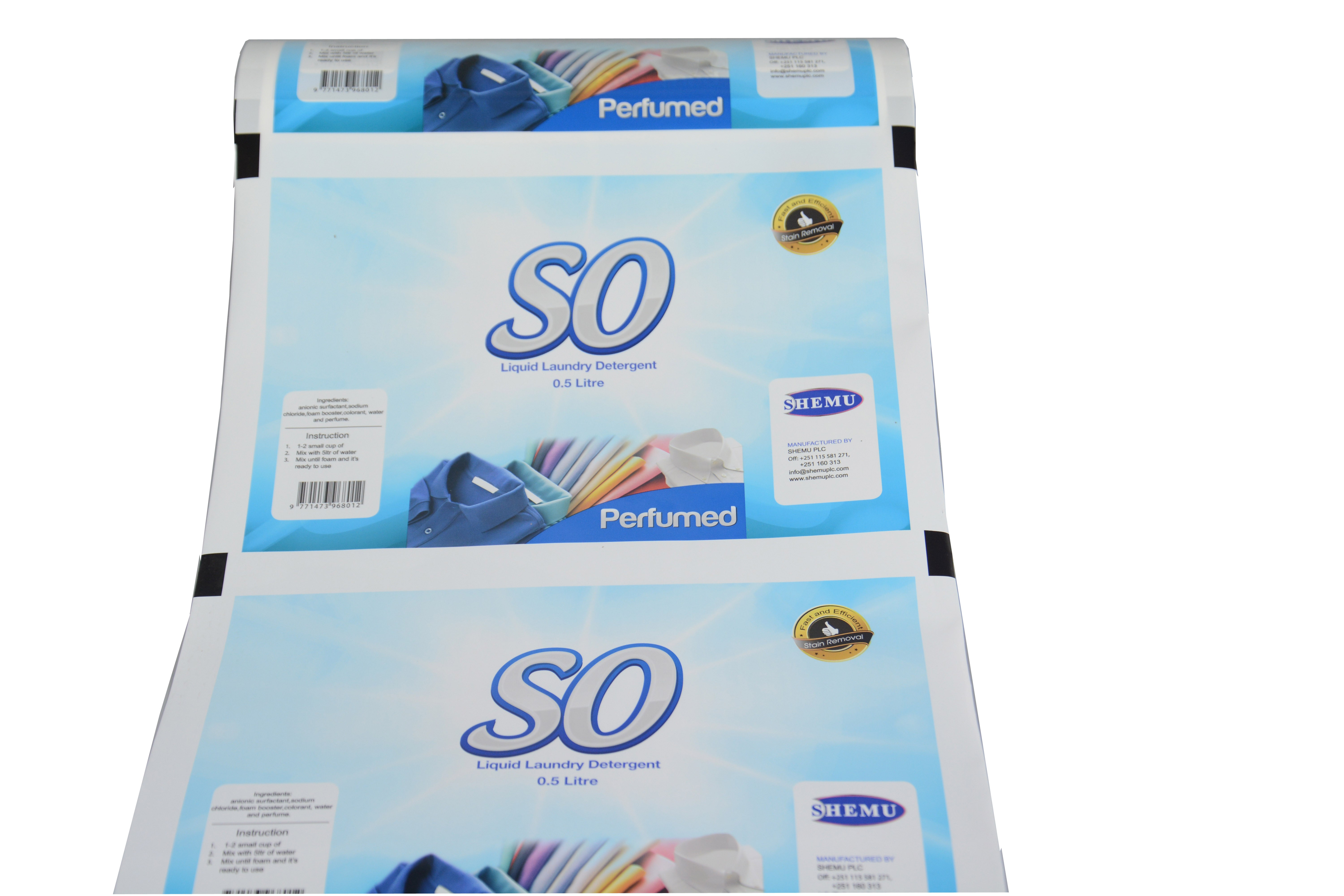 liquid laundry detergent laminated film in roll