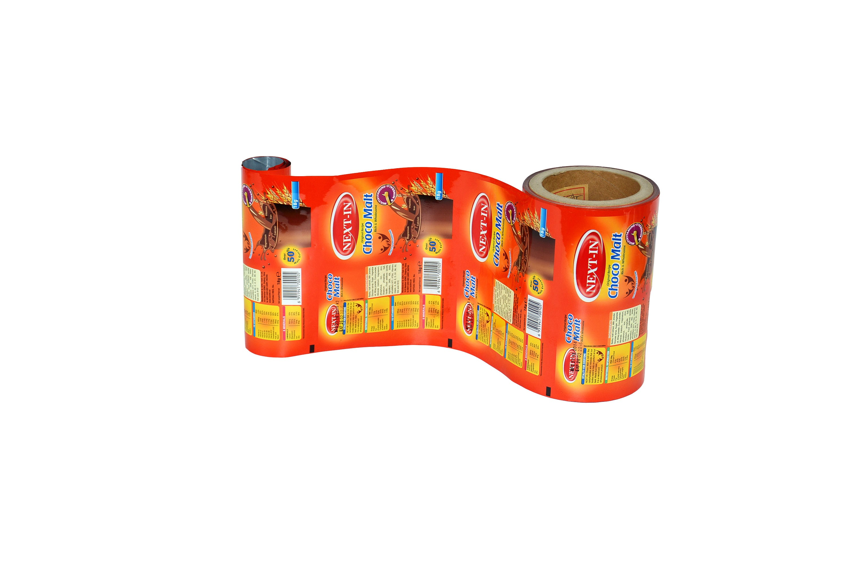 aluminum chocolate powder plastic packaging film
