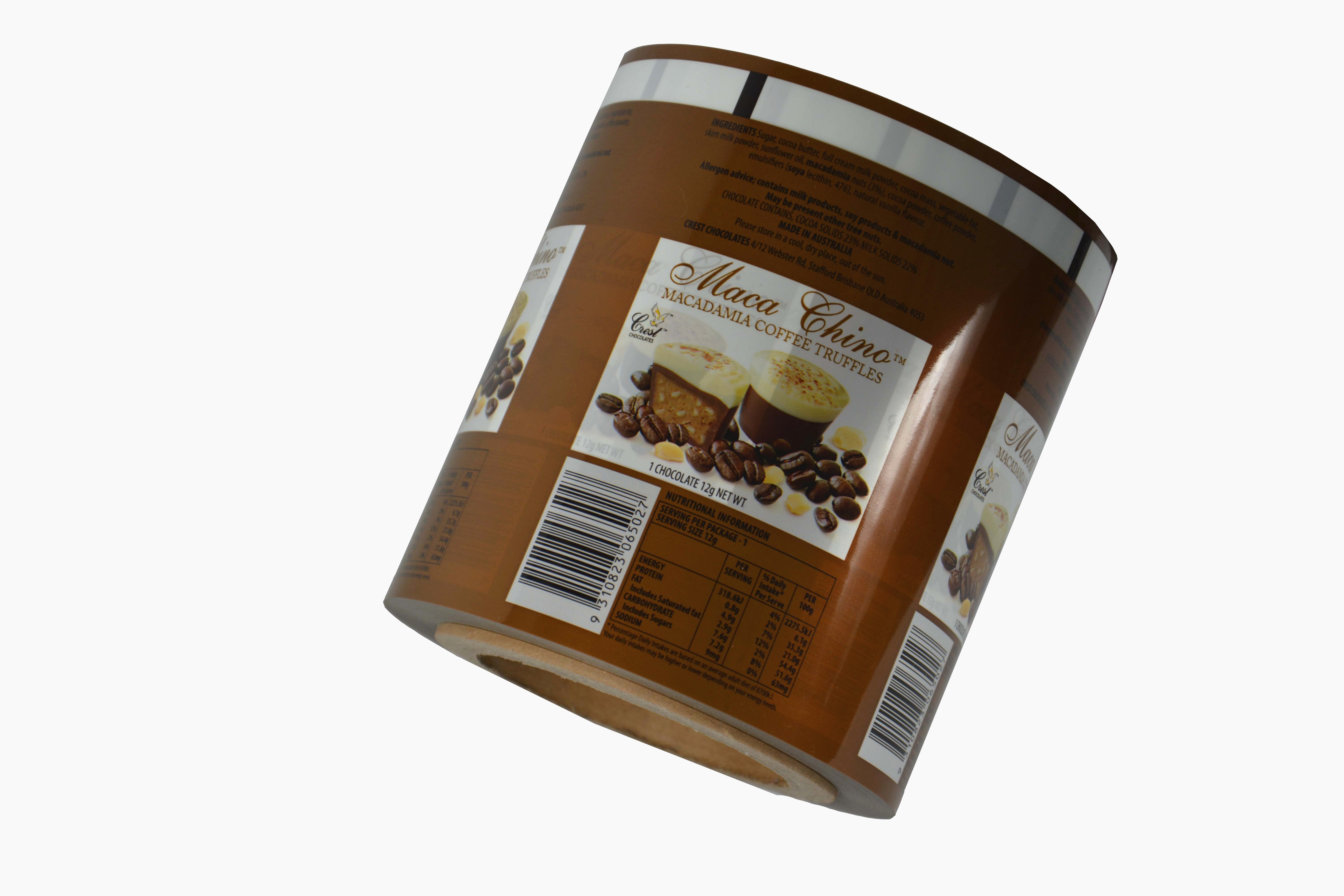 heat seal OPP plastic film for chocolate powder