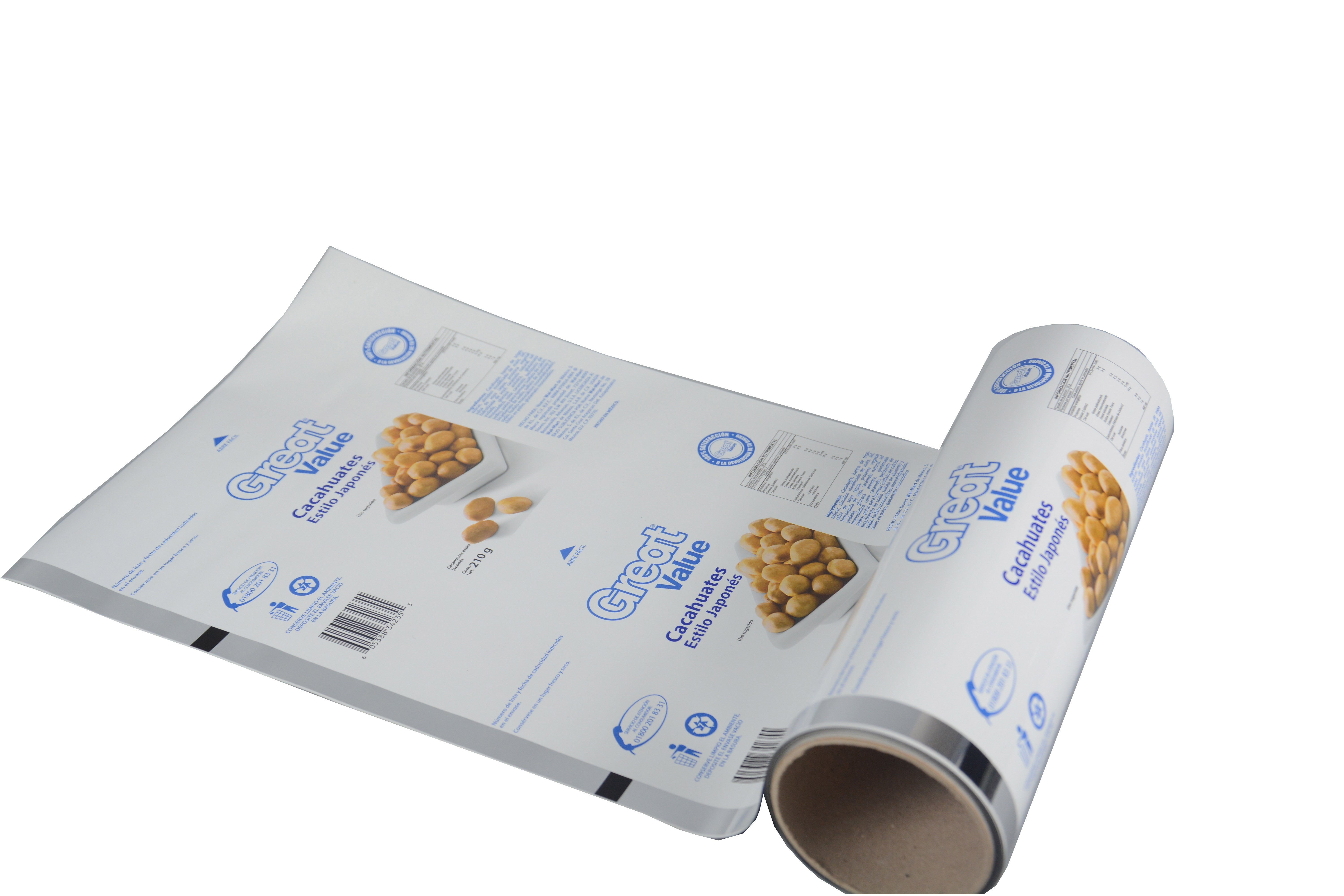 glossy laminating high quality plastic food packaging film